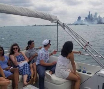Google private Chicago air & water show yacht charter