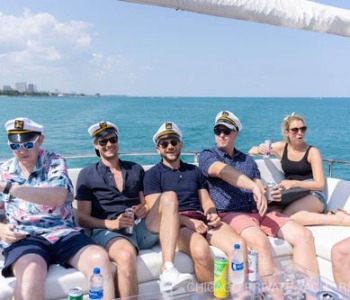 GroundTruth company party on Adeline's Sea Moose yacht