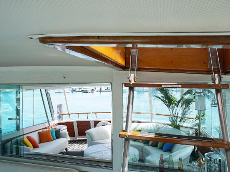 Sleep aboard yacht