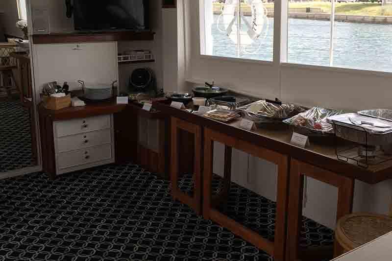 Yacht buffet