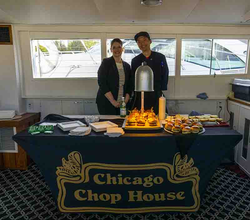 Chicago Chop House yacht catering