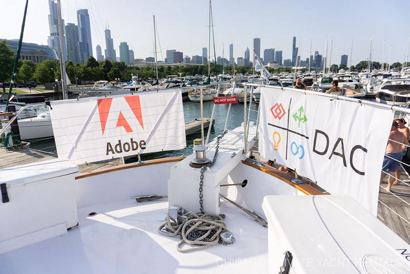 DAC & Adobe Networking Privat Yacht Charter and Lake Michigan Cruise on Adeline's Sea Moose