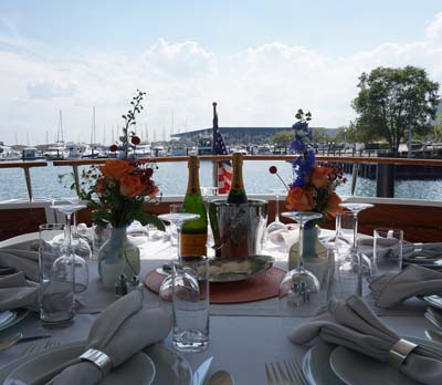 Adeline's Sea Moose Chicago private yacht rental charter for private dinner parties