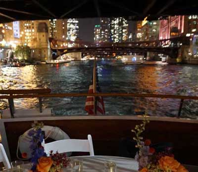 Adeline's Sea Moose Chicago private yacht rental charter private dining
