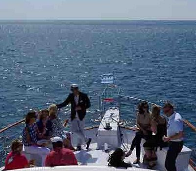 Adeline's Sea Moose Chicago private yacht rental charter shore to shore