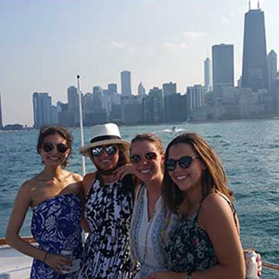 Adeline's Sea Moose Chicago private yacht rental for charity fundraising events
