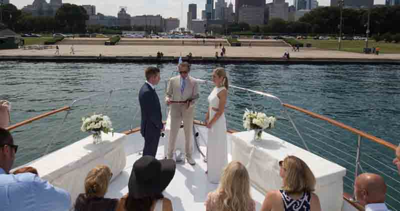 Adeline's Sea Moose Chicago private yacht rental for weddings