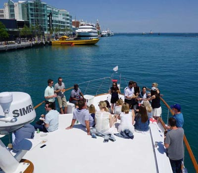 Adeline's Sea Moose chicago private yacht rental for business charters