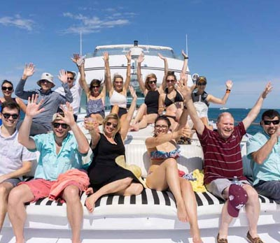 Adeline's Sea Moose chicago private yacht rental for celebrating family and friends