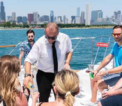 Adeline's Sea Moose luxury private yacht rental in Chicago