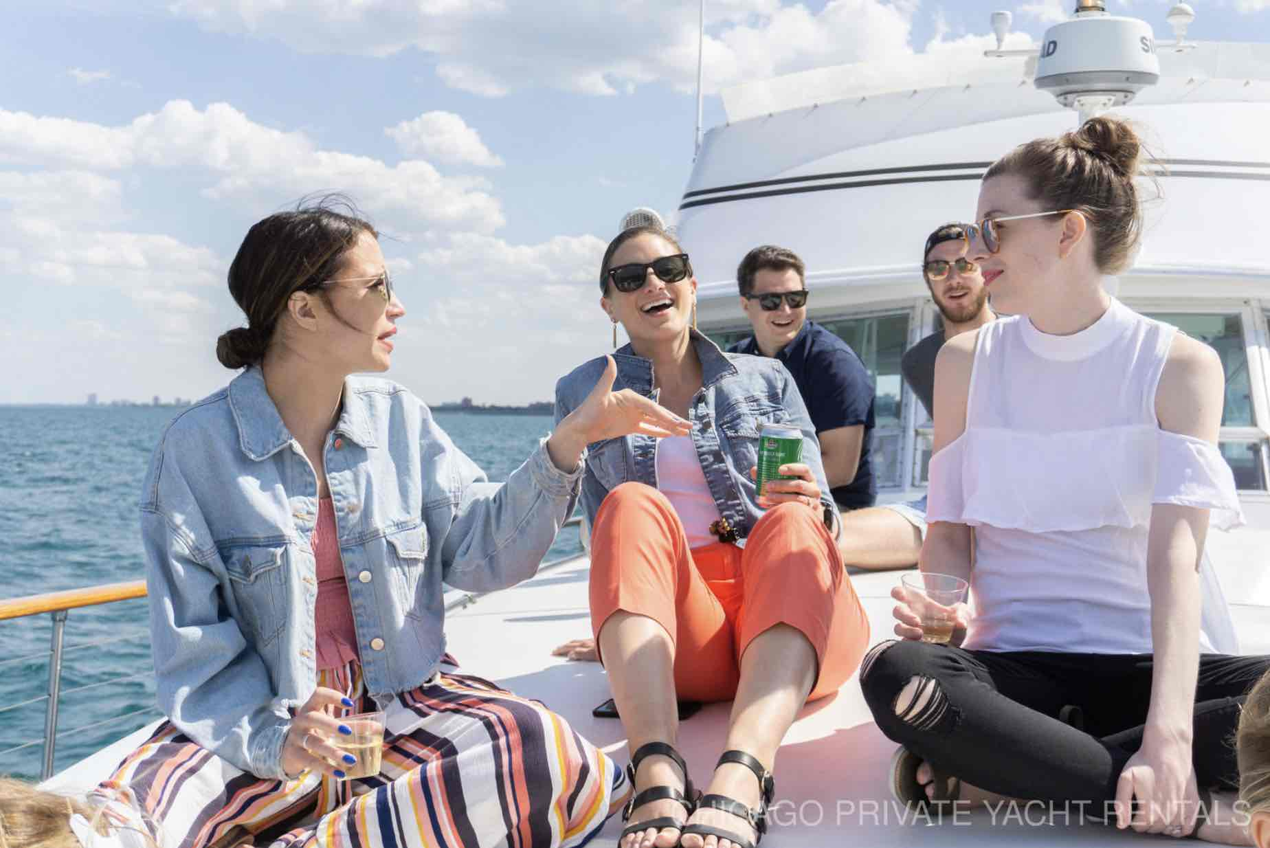 Chicago private yacht rental charter overnight accommodations