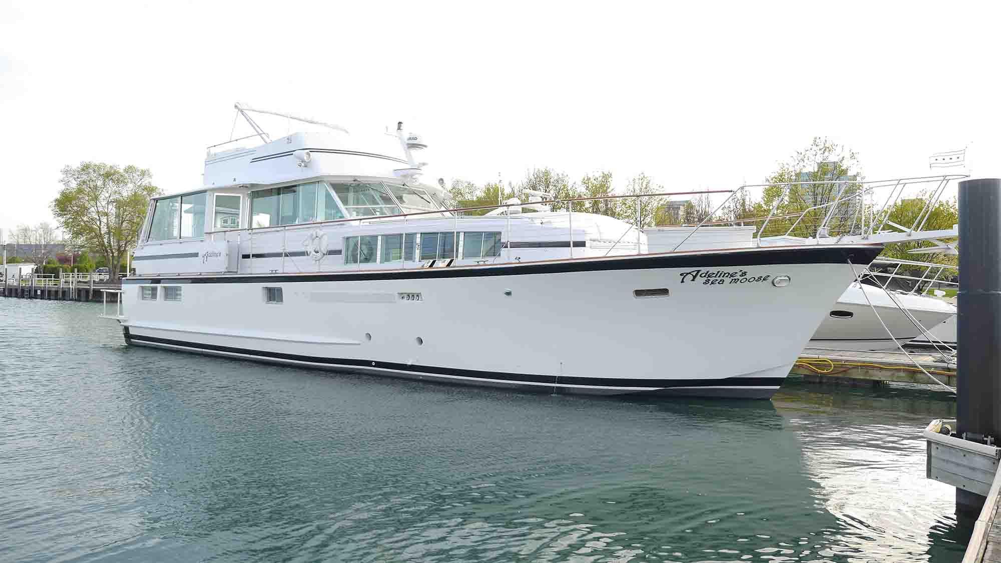 Adeline's Sea Moose premier Chicago private yacht rental
