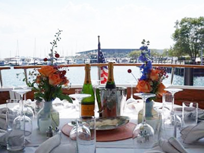 Adeline's Sea Moose private yacht rental for dinner and dinner parties