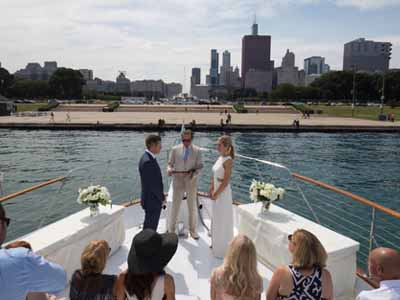 Adeline's Sea Moose private yacht rental for weddings in Chicago