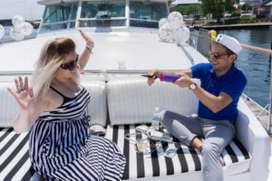 A Few Close Friends Have a Blast on This Smaller Yacht Rental in Chicago