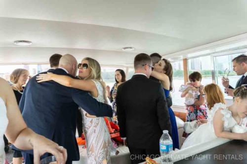 Ceremony aboard Adeline's Sea Moose