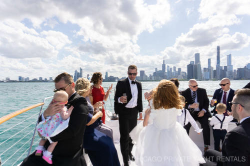 Skyline wedding aboard Adeline's Sea Moose